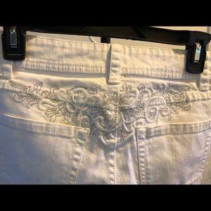 Cache Coeur Jeans - Cache jeans white size 2
